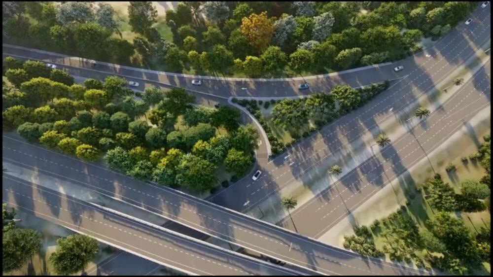 reconstrucción autopista